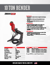 10 Ton Bender Specification Sheet