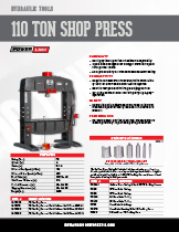 110 Ton Shop Press Specification Sheet