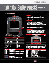110 Ton Shop Press with PLC Specification Sheet