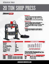 20 Ton Shop Press Specification Sheet
