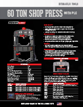 60 Ton Shop Press with PLC Specification Sheet