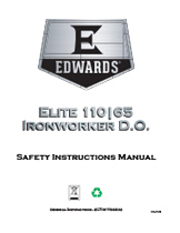 110/65 Ton Elite Ironworker Manual