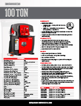 100 Ton Specification Sheet