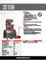 25 Ton Specification Sheet