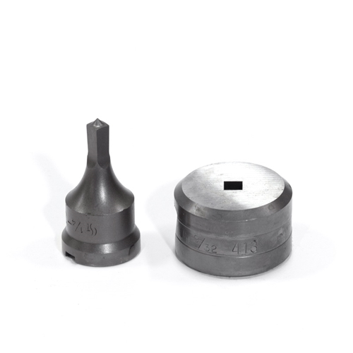 "1/4"" Square Punch & Die Set with Key-Way"