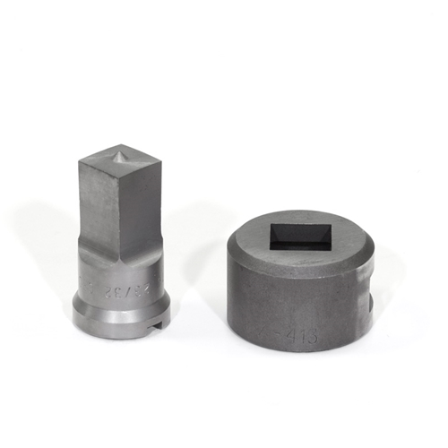 "23/32"" Square Punch & Die Set with Key-Way"