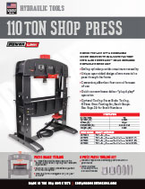 110 ton Shop Press 6 Piece Tooling Spec Sheet