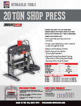 20 Ton Shop Press Specifications