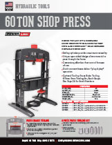 60 ton shop press 6 Piece Tooling specifications